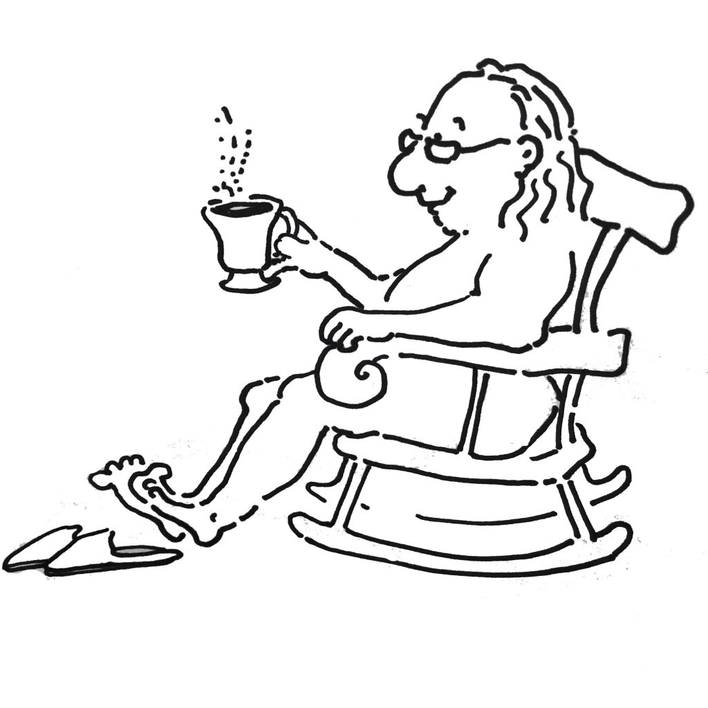 Benjamin Franklin nude